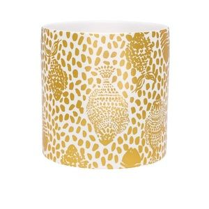 Lilly Pulitzer Porcelain Gold and White Vase